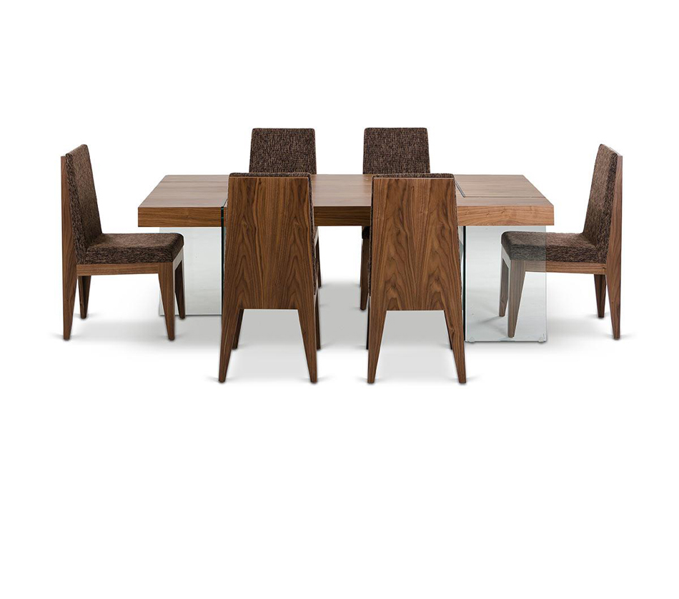 Aura contemporary walnut floating for Floating dining table