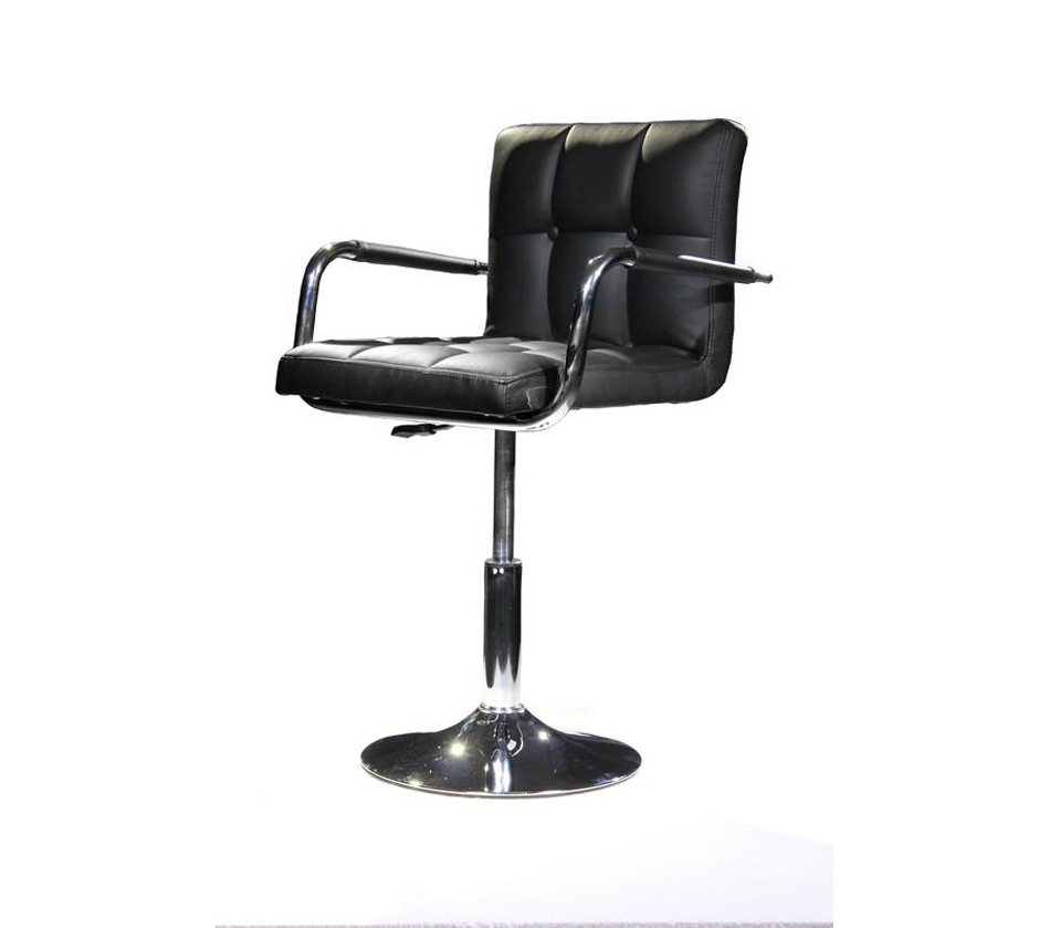 B05 modern eco leather black swivel for Contemporary black leather chairs