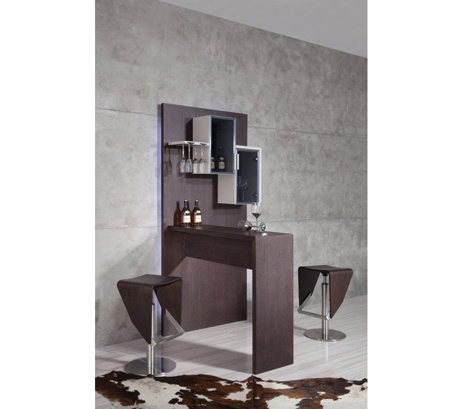 Modern Home Bar Cabinet: Modern Brown Bar Cabinet