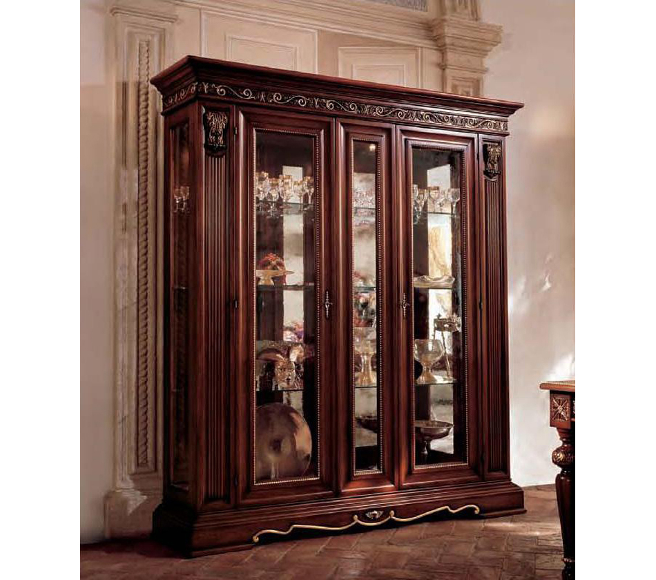 Dining Display Cabinets: San Marco Dark Walnut Large Dining