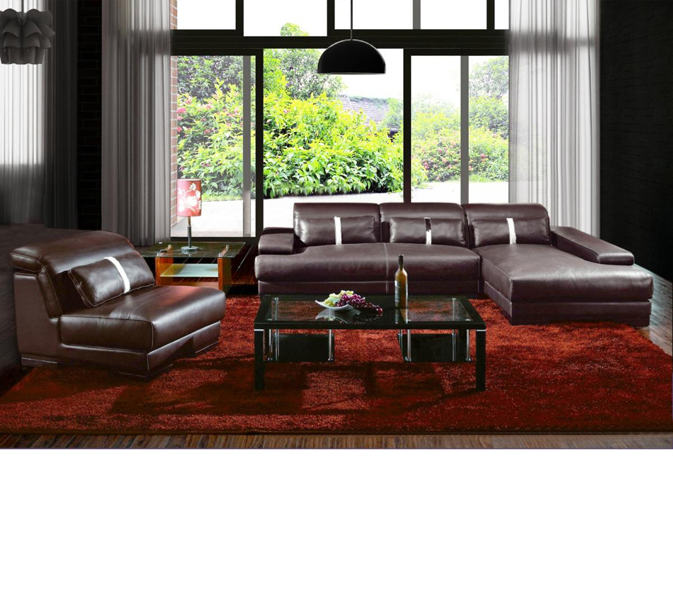 Dreamfurniture Com Boston Contemporary Leather Sectional