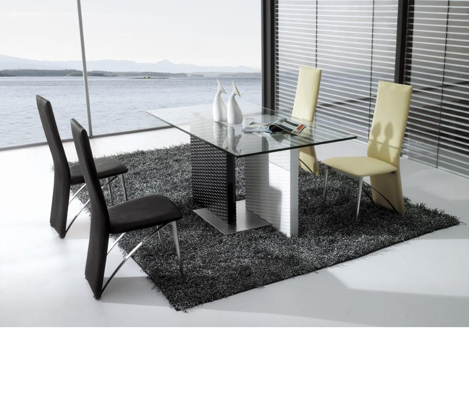 CT-78 Modern Black And White Glass