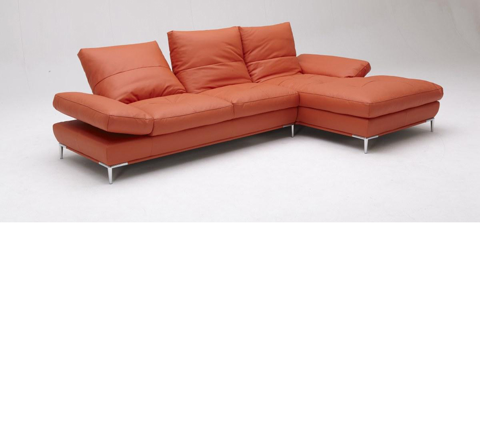 Dreamfurniturecom dahlia 1307 orange sectional sofa set for Sectional sofa set up
