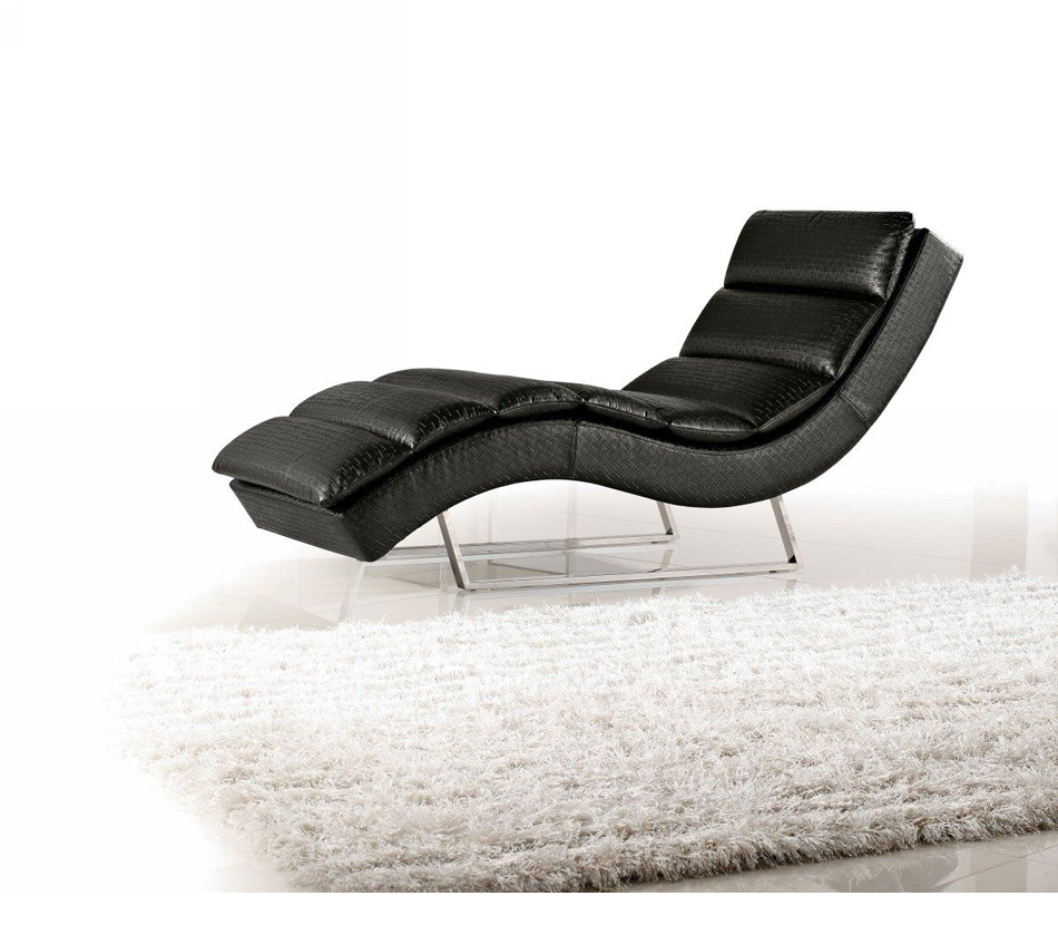 divani casa 1185 modern eco leather chaise. Black Bedroom Furniture Sets. Home Design Ideas