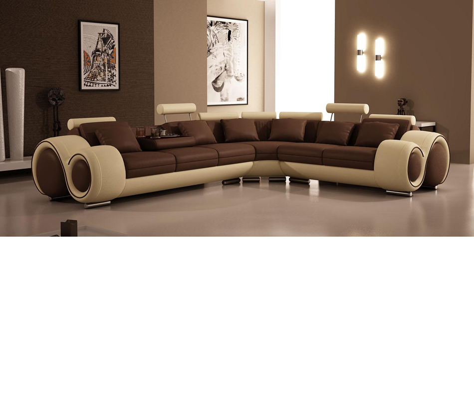 Incredible Divani Casa 4087 Modern Bonded Leather Sectional Sofa Gamerscity Chair Design For Home Gamerscityorg