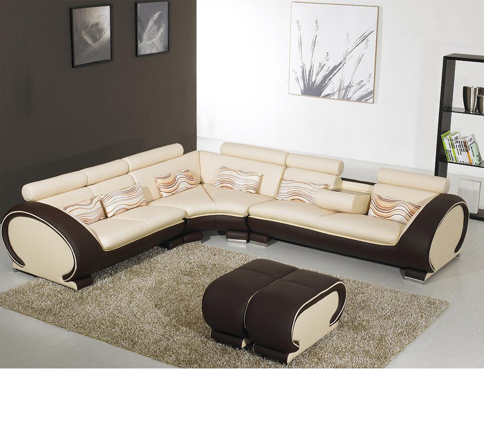 Divani Casa 816B   Modern Leather Sectional Sofa