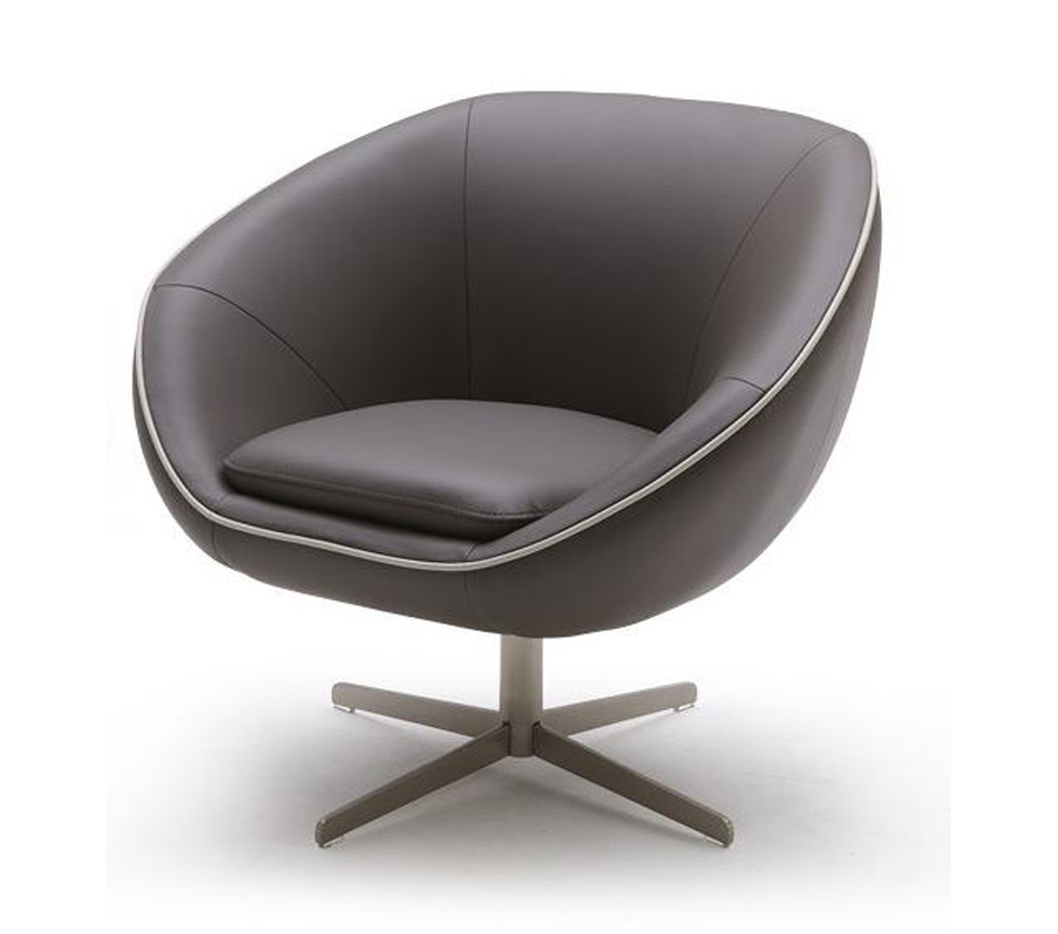Dreamfurniture Com Divani Casa A768 Modern Swivel Lounge Chair