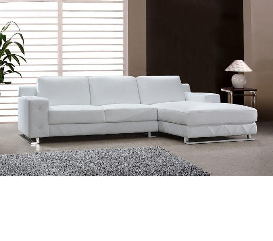 The Benefits Of Having A White Leather Sectional: DreamFurniture.com