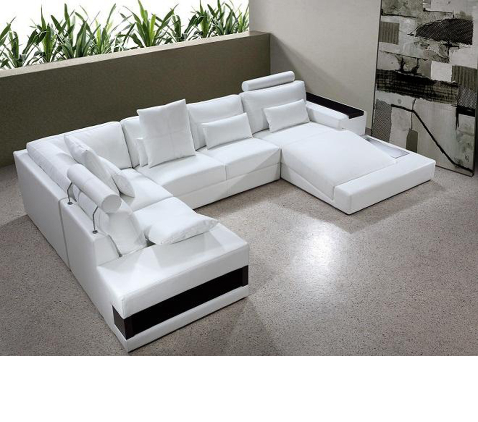Dreamfurniture Com Divani Casa Diamond Modern Leather