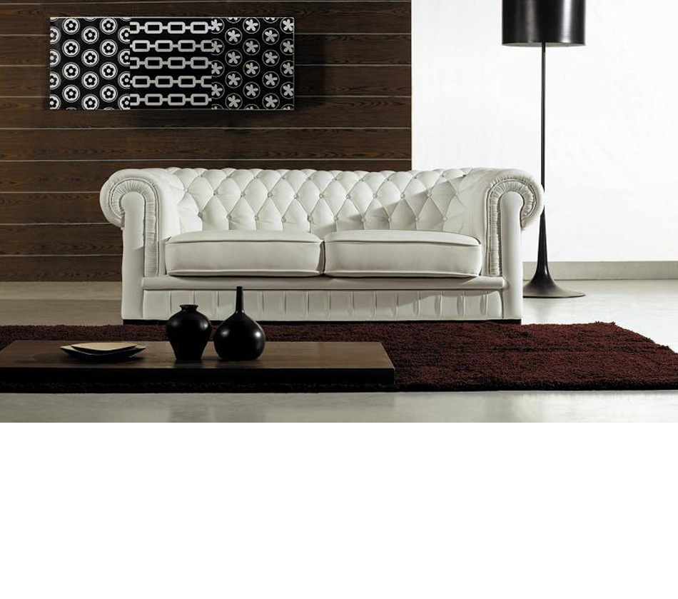 Divani casa paris transitional for Tufted couch set