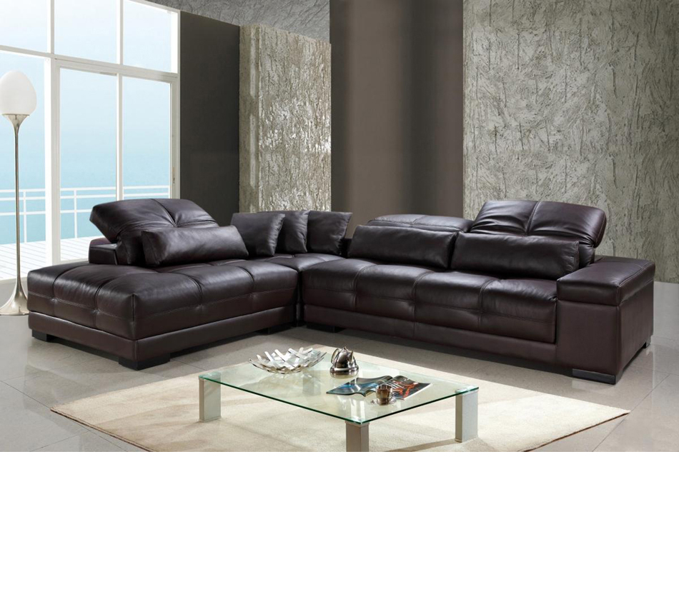 DreamFurniture.com - Divani Casa Rodeo - Modern Leather ...