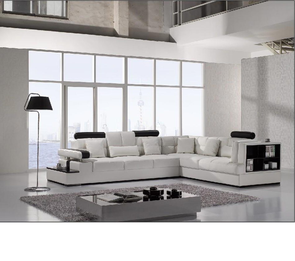 Divani casa t117 modern leather for Modern white furniture