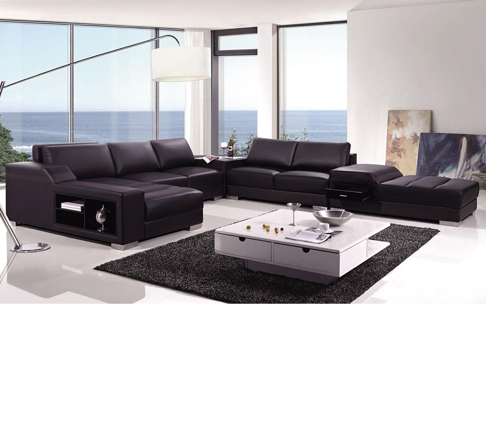DreamFurniture.com - Divani Casa T270 - Modern Leather ...