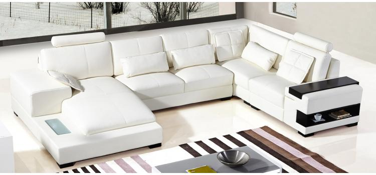 Divani Casa Diamond Modern White Leather Sectional Sofa