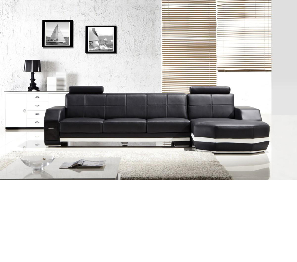 DreamFurniture.com - Divani Casa T305 - Modern Leather ...