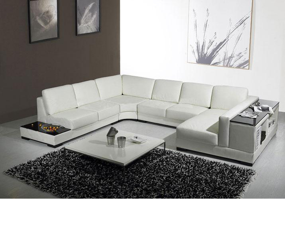 Divani casa t75 modern leather for Modern sectional sofas