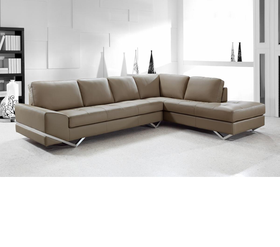 Divani Casa Vanity Modern Leather Sectional Sofa