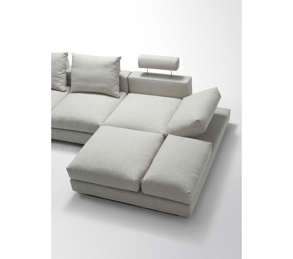 DreamFurniture.com   Divani Casa Vasto   Modern Fabric Sectional Sofa With Down  Feather Cushioning