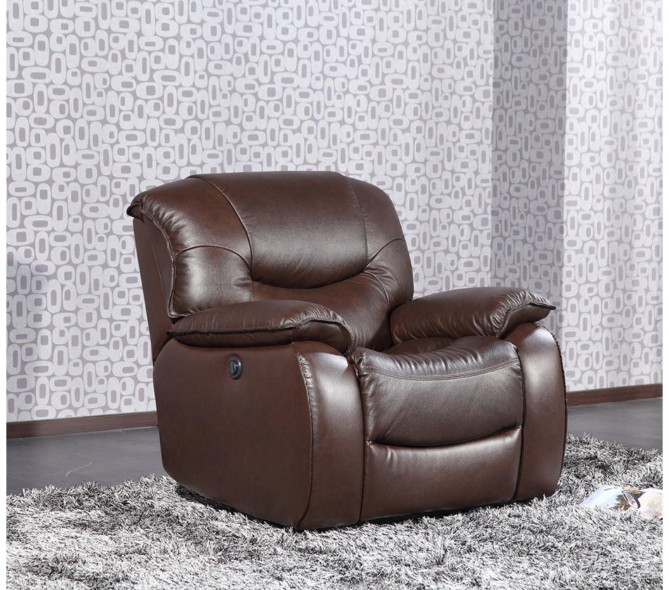 E9022 modern brown leather lounge chair for Modern leather club chairs