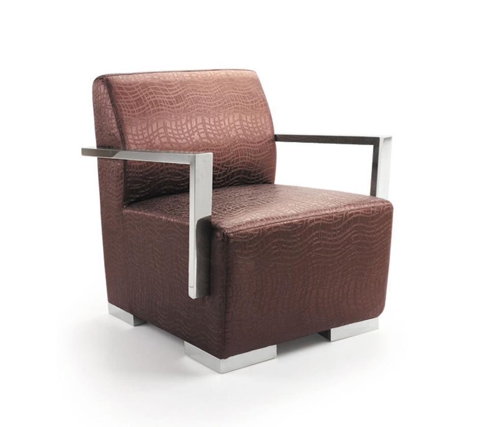 Ec 013 modern leather lounge chair for Modern leather club chair