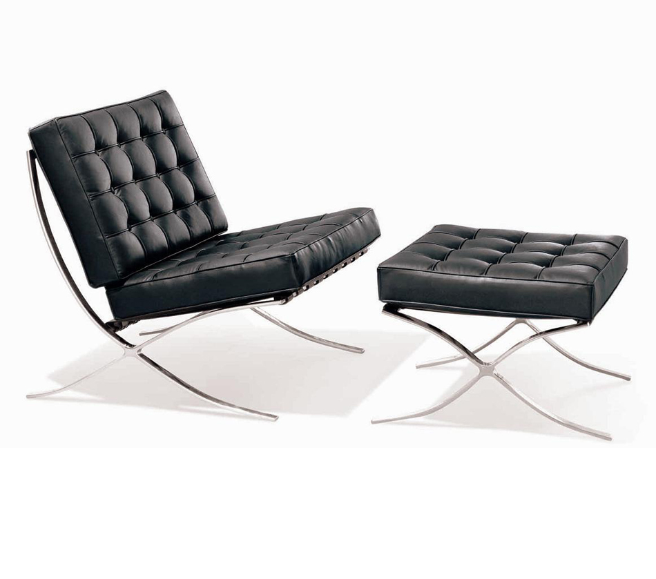 DreamFurniture ET 001 Modern Lounge Chair with Ottoman
