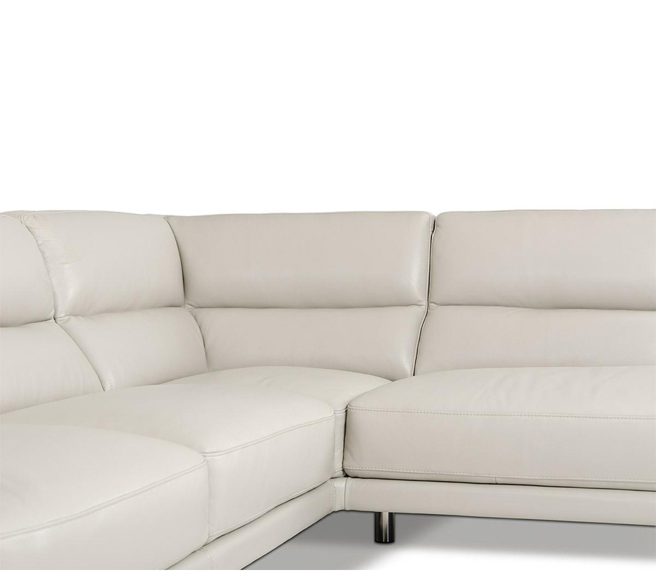 Elegance modern leather grey for Leather sectional sofa