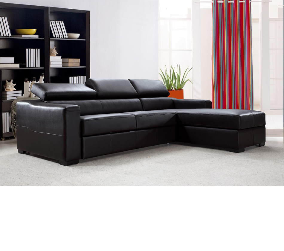 Flip Reversible Leather Sectional