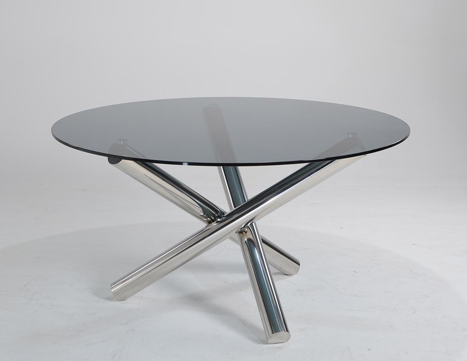 Dreamfurniture Com Frau Modern Round Dining Black Table