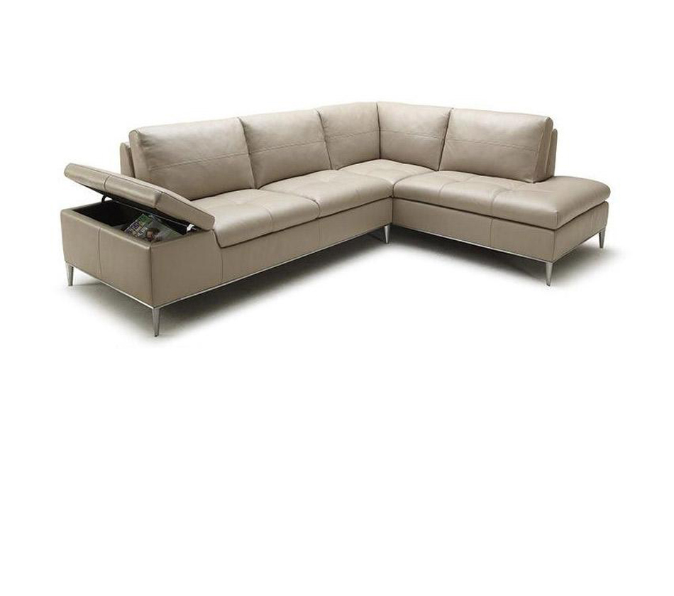 Gardenia modern sectional sofa with for Contemporary sectional sofas