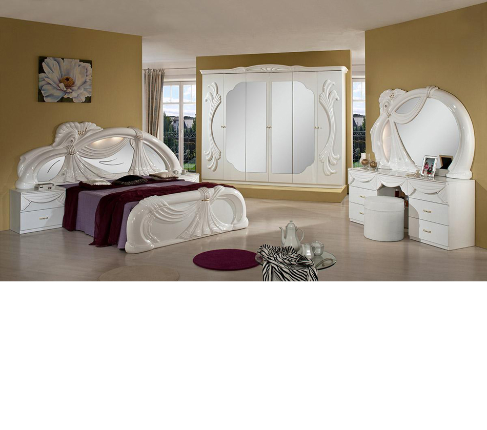 gina white italian classic bedroom. Black Bedroom Furniture Sets. Home Design Ideas