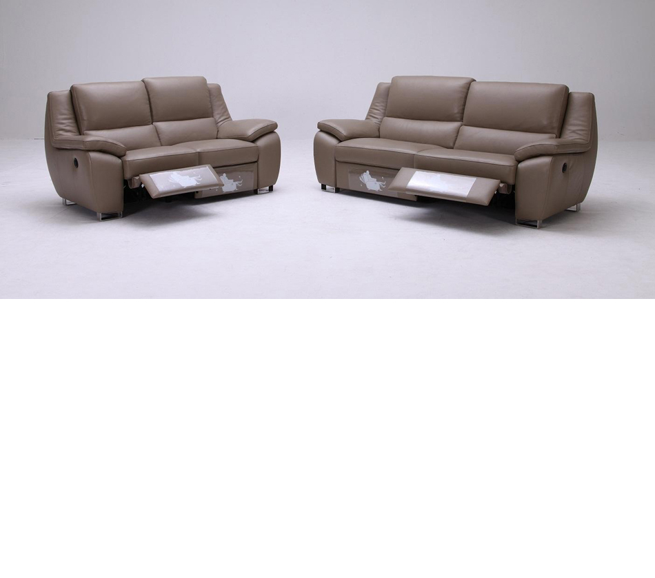 K 1339 Modern Leather Sofa Set With Recliners