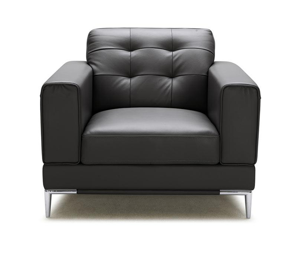 DreamFurniture Larkspur Modern Black Bonded