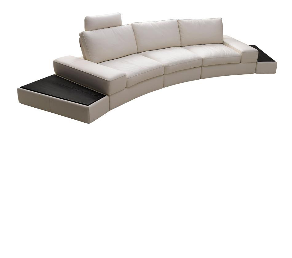 - DreamFurniture.com - Lilac White Full Grain Leather Sectional Sofa Set