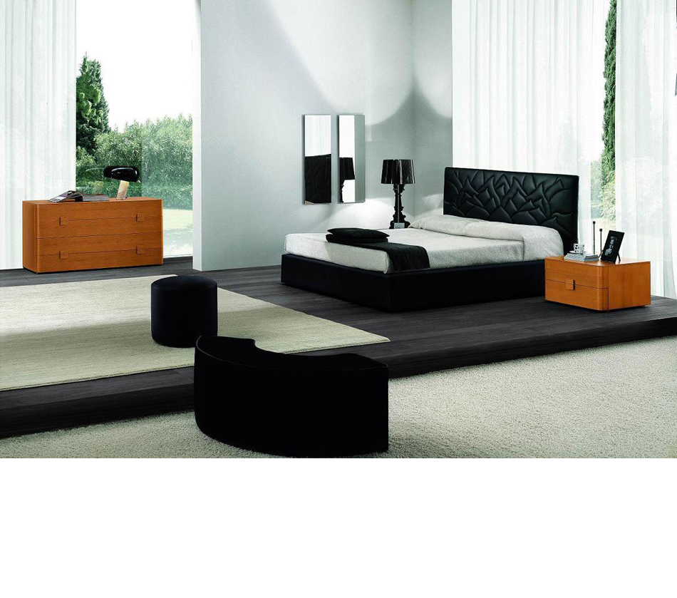 Loto Bed Black Eco Leather Made In Italy