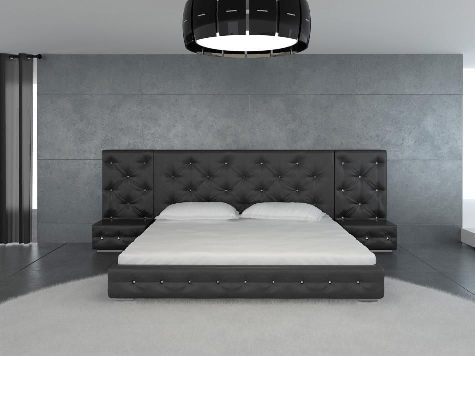 Dreamfurniture Com Melody Black Modern Leather