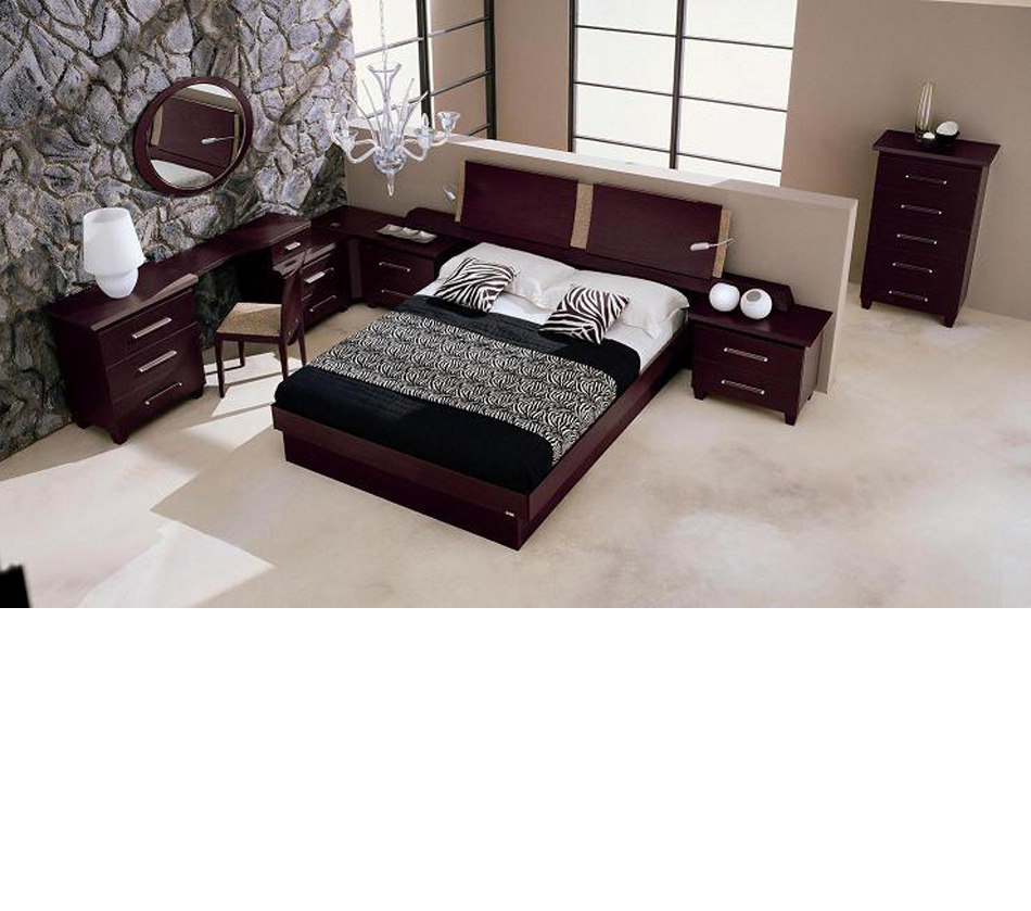 Miss Italia Composition 01 Italian Platform Bed Group
