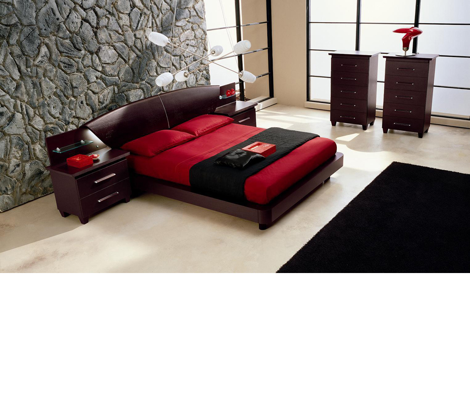 Miss Italia Composition 02 Italian Platform Bed Group