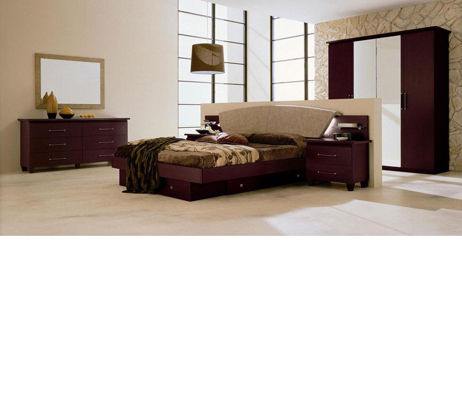 Miss Italia Composition 03 Italian Platform Bed Group