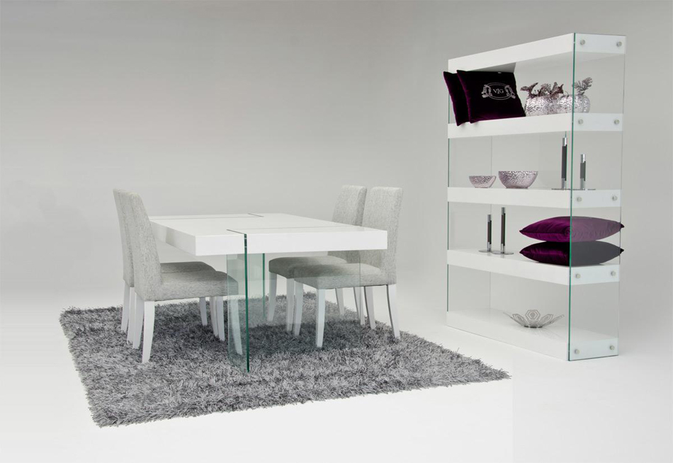 Modern white floating dining table for Floating dining table