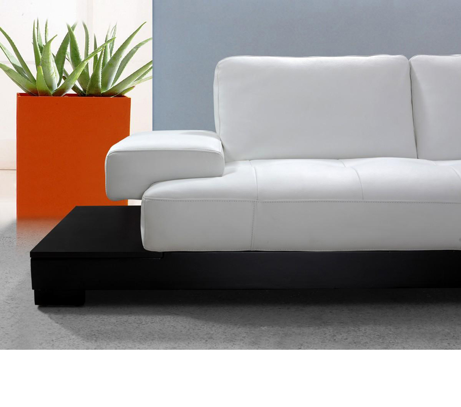 Modern white leather sectional sofa for Leather sectional sofa