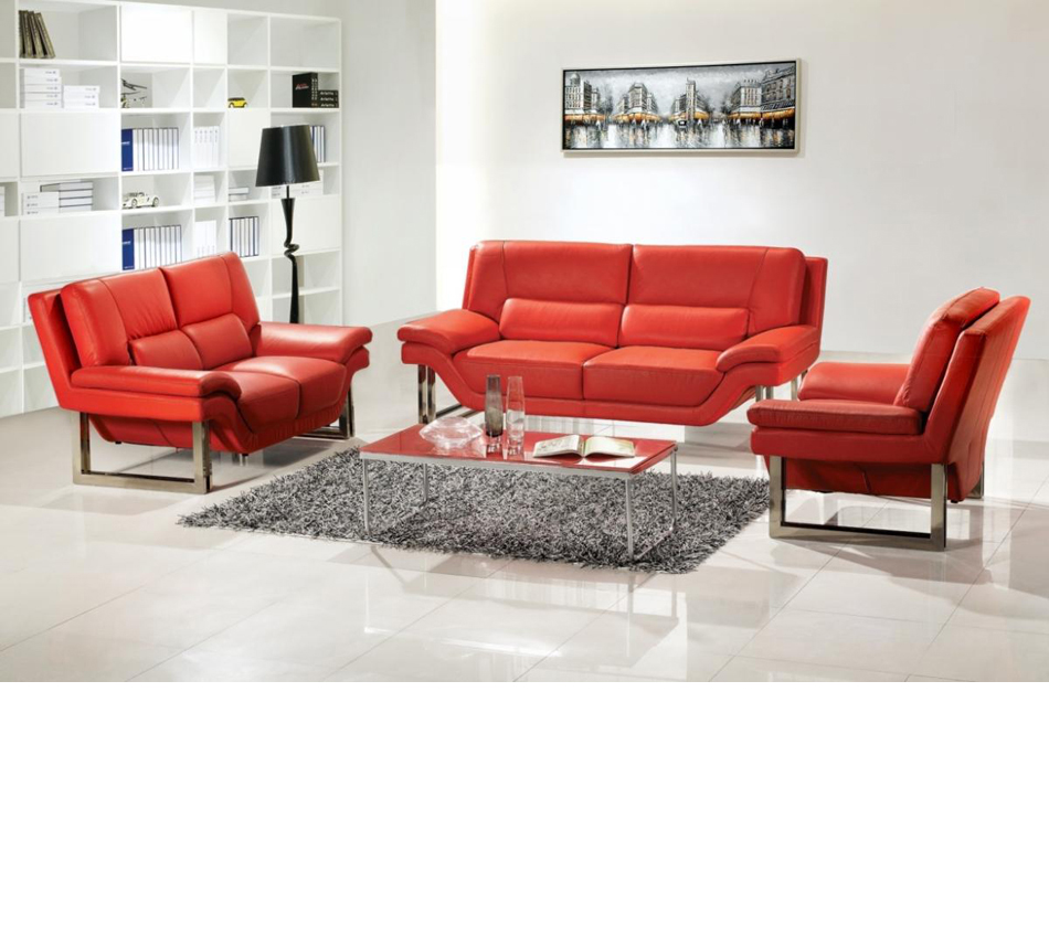 New york modern 3 pc sofa set for Sofas in nyc