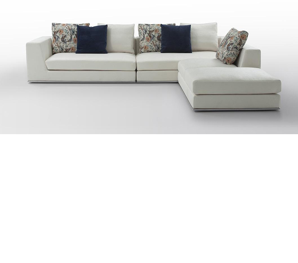 Odessa modern light fabric for Sectional couch