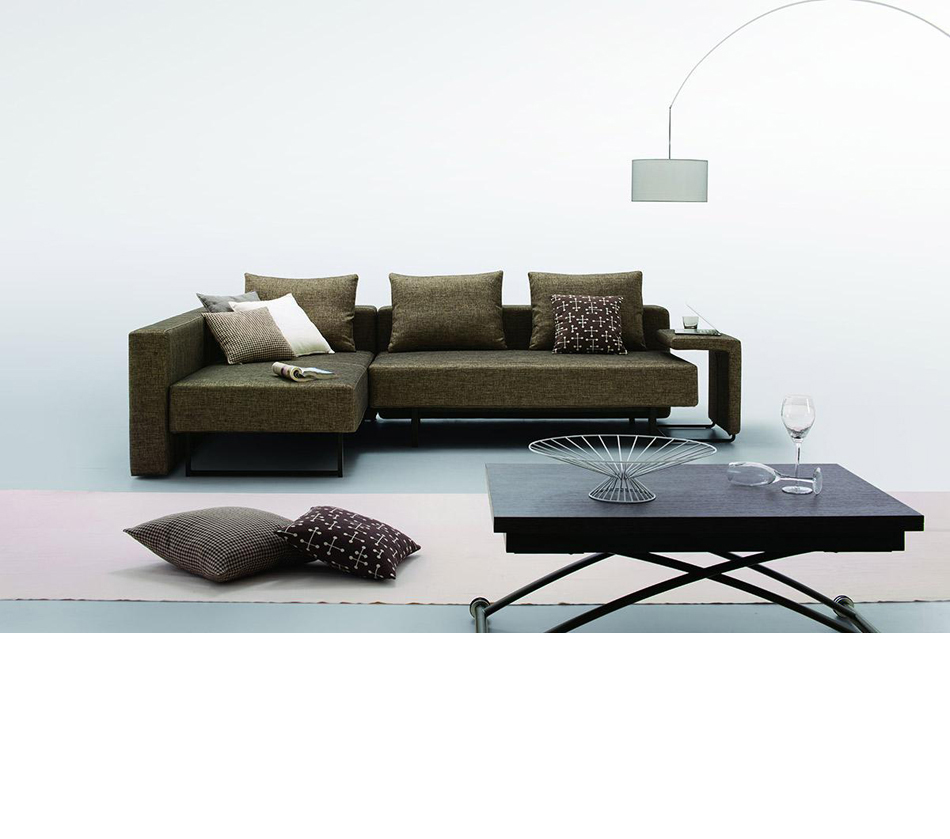 Olympic Modern Fabric Sofa With Chaise