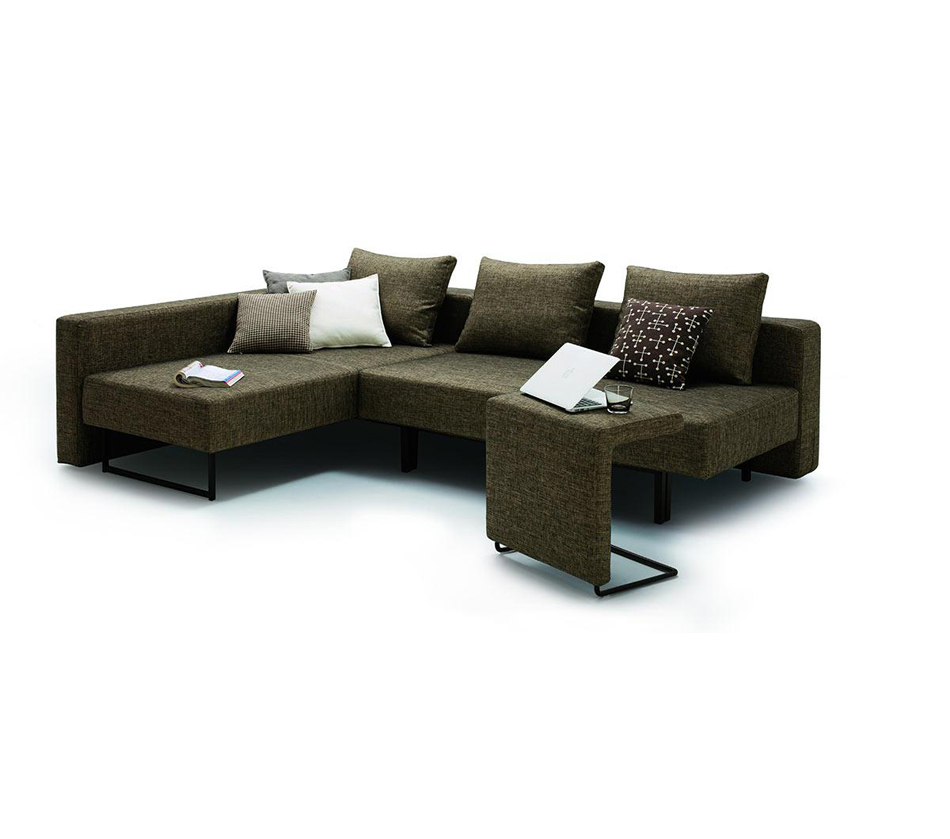 DreamFurniture.com - O... Modern Sofa With Chaise