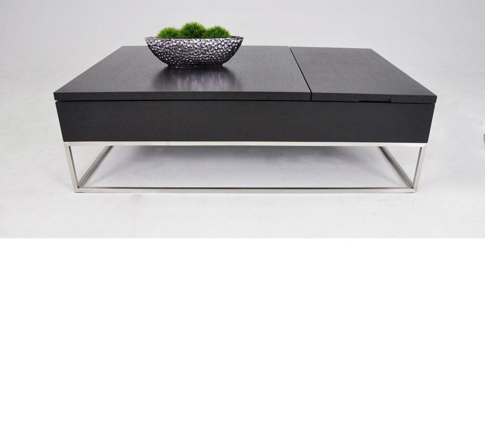 P209a modern white coffee table with pull out tray and storage Contemporary coffee tables with storage