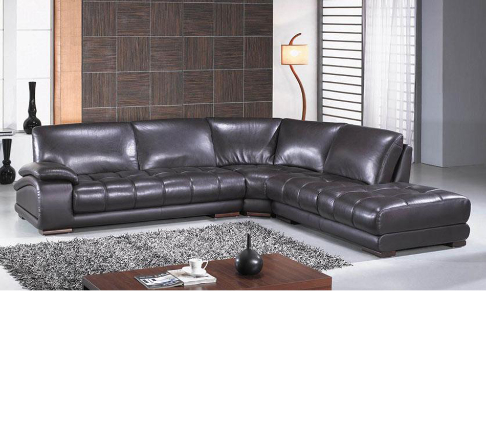 Espresso Leather Reclining Sofa: Modern Espresso Leather