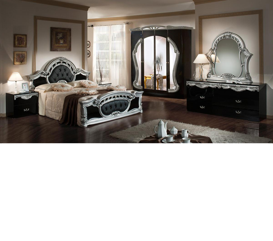 bedroom sets rococo italian classic black silver bedroom set