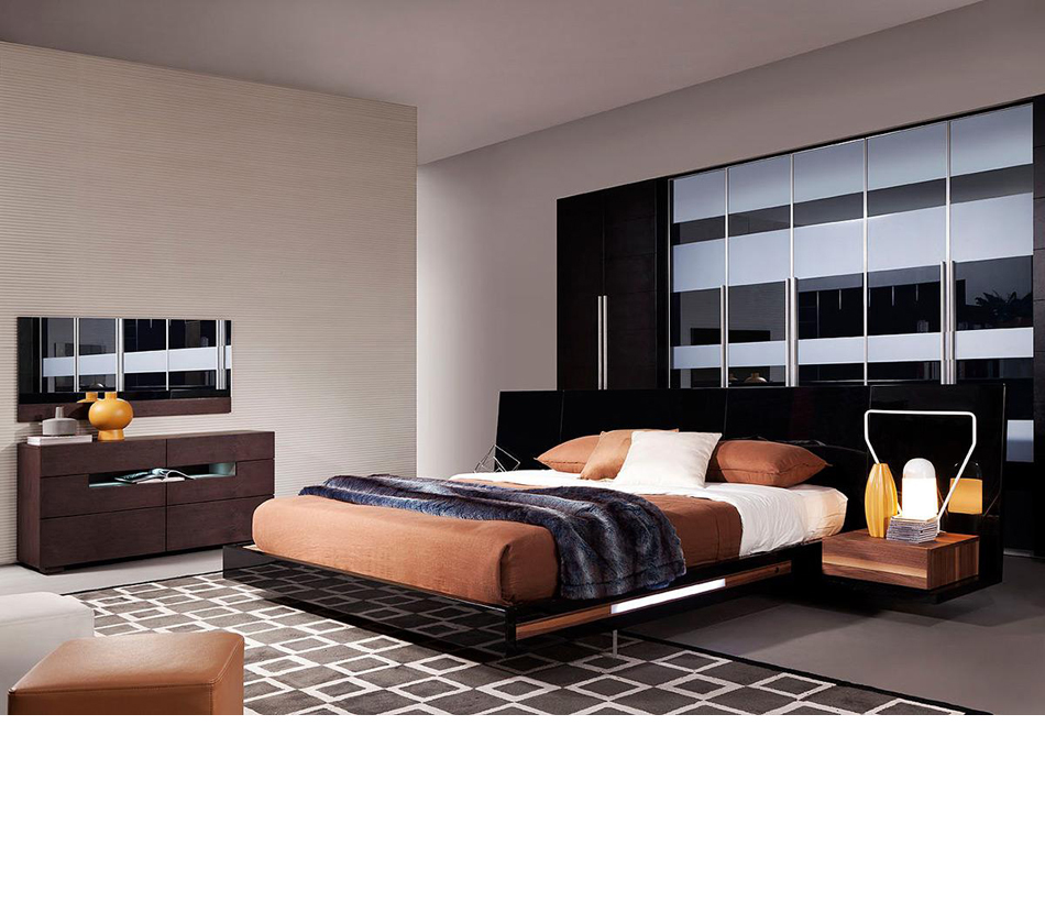 Salento contemporary floating for Modern floating bed