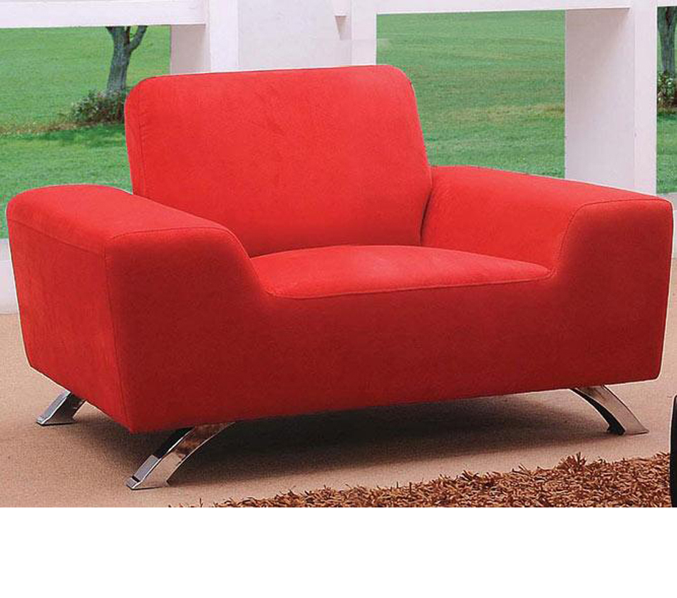 Dreamfurniture Com Sunset Modern Red Sofa Set