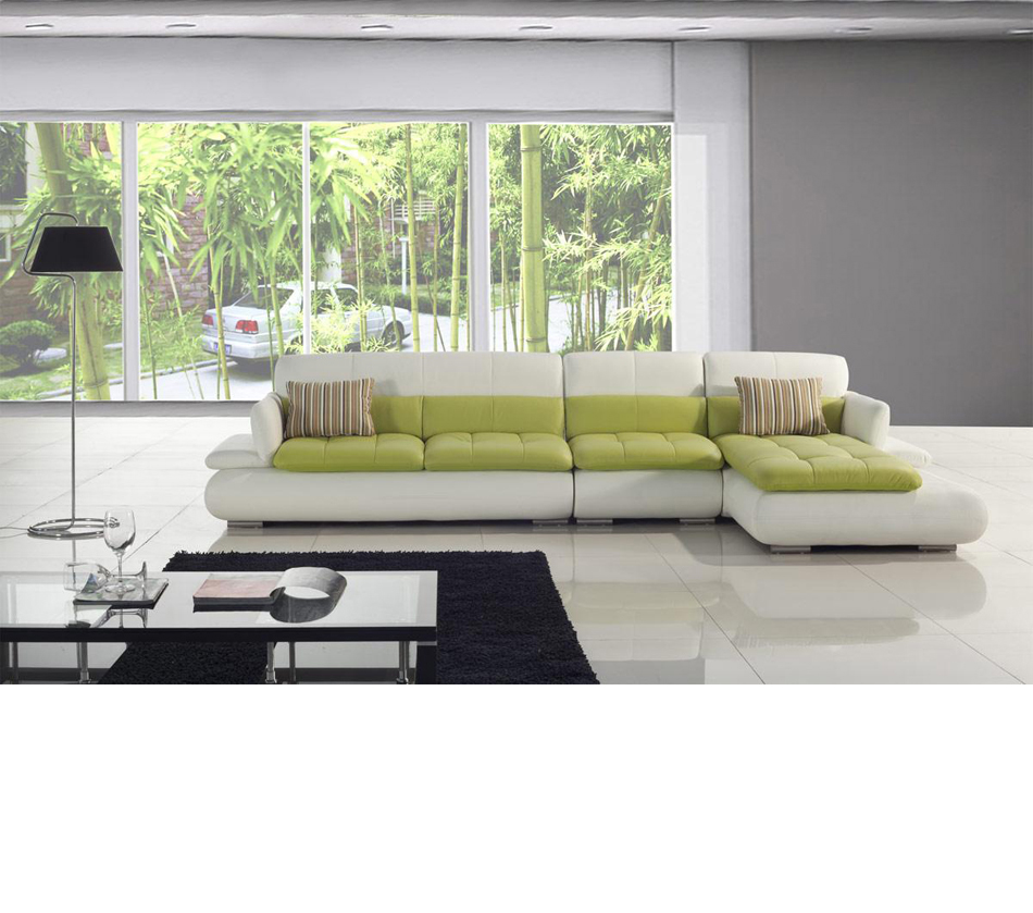 T217-White And Green Leather